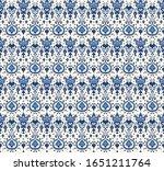 ikat geometric folklore... | Shutterstock .eps vector #1651211764