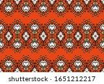 ikat geometric folklore... | Shutterstock .eps vector #1651212217