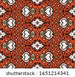 ikat geometric folklore... | Shutterstock .eps vector #1651214341