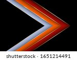 polygonal arrow with gold... | Shutterstock .eps vector #1651214491
