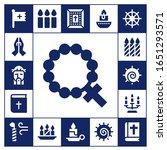 spirituality icon set. 17... | Shutterstock .eps vector #1651293571