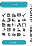 pump icon set. 25 filled pump... | Shutterstock .eps vector #1651293604
