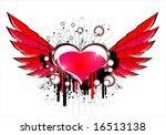 vector flying heart | Shutterstock .eps vector #16513138