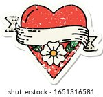 distressed sticker tattoo in... | Shutterstock .eps vector #1651316581