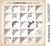 vintage design elements corners ... | Shutterstock .eps vector #1651330207