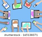 byod bring your own device... | Shutterstock .eps vector #165138371