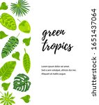 invitation with exotic jungle... | Shutterstock .eps vector #1651437064