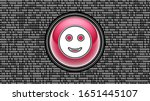 smile icon. binary code   array ... | Shutterstock . vector #1651445107