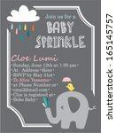 baby shower invitation template ... | Shutterstock .eps vector #165145757