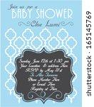 baby shower invitation template ...   Shutterstock .eps vector #165145769