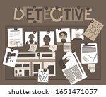 detective story board for... | Shutterstock .eps vector #1651471057