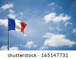 France Flag On Blue Sky