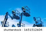 Articulated Boom Lift. Aerial...