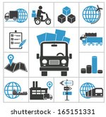 logistic icons | Shutterstock .eps vector #165151331