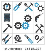 tools icons | Shutterstock .eps vector #165151337
