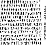 hundreds of people silhouettes  ... | Shutterstock . vector #16515211