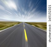 low angle speed road | Shutterstock . vector #165152321
