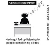 kevin got fed up with people... | Shutterstock .eps vector #165152375