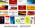 collection vertical and... | Shutterstock .eps vector #16515247