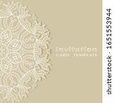 invitation or card template...   Shutterstock .eps vector #1651553944