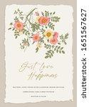 wild roses. wedding invitation. ... | Shutterstock .eps vector #1651567627