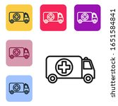black line ambulance and... | Shutterstock .eps vector #1651584841
