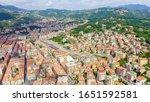 La Spezia, Italy. View of the city, mountains, Aerial View   - stock photo