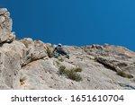 rock climber in spanish... | Shutterstock . vector #1651610704