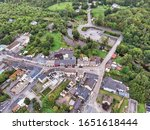 Small photo of An aerial view of Main Street in the village of Cong, straddling the County Galway and County Mayo borders in Ireland.