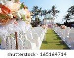 outdoor wedding   Shutterstock . vector #165164714