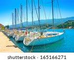 Docked Sailing Boats In Poros...