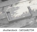white sliding gift box mockup...   Shutterstock . vector #1651682734