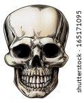 a human skull or grim reaper... | Shutterstock . vector #165171095