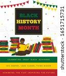 black history month... | Shutterstock .eps vector #1651715731