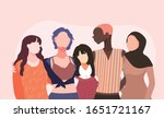 women's month. women of various ... | Shutterstock .eps vector #1651721167