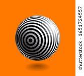 black and white striped sphere...   Shutterstock .eps vector #1651724557