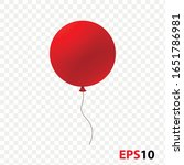 ballon realistic red isolated...   Shutterstock .eps vector #1651786981