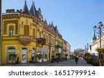 Old buildings in the center of Kaposvar, Southern Transdanubia, Hungary