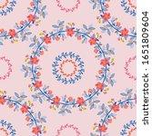 seamless pattern. wreaths of...   Shutterstock .eps vector #1651809604