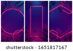 set of futuristic abstract... | Shutterstock .eps vector #1651817167