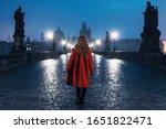 Female Tourist Walking On The...