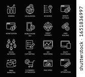 seo service symbols  website...   Shutterstock .eps vector #1651836997