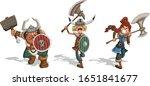 angry cartoon vikings warriors... | Shutterstock .eps vector #1651841677