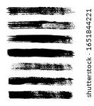 grunge strips. set of vector... | Shutterstock .eps vector #1651844221