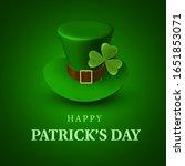 happy st. patrick's day banner. ... | Shutterstock .eps vector #1651853071