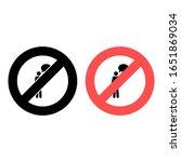 no human monologue icon. simple ...