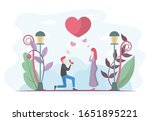 will you marry me illustration. ... | Shutterstock .eps vector #1651895221
