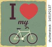 Retro Illustration Bicycle. I...