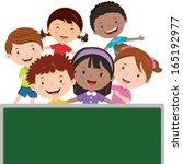 fun in the classroom. children... | Shutterstock .eps vector #165192977