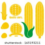 corn logo. isolated corn on... | Shutterstock .eps vector #165193211